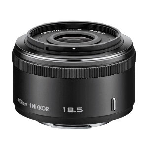 Nikon 1 Nikkor 18.5mm f/1.8 Lens - Black Colour