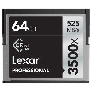 Lexar Pro CFast 2.0 - 64gb- 3500X (525mb/s)