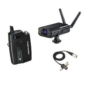 Audio Technica System 10 Digital Camera-Mount Wireless Lapel Microphone System (ATW-1701/L)