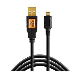 Tether Tools TetherPro USB 2 to Micro-B 5 Pin Cable 4.6m - Hi-Vis Orange