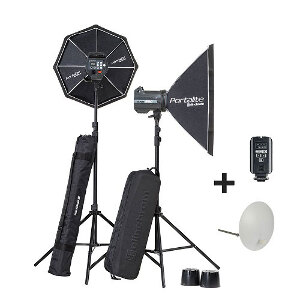Elinchrom BRX 500/500 Set To Go with Stands & Skyport Transmitter Plus