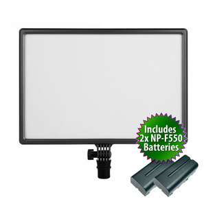 LEDGO Sidelit Soft Light43 LED Panel with AC Adapter & Batteries