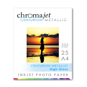 ChromaJet Centurion Photo Paper - Metallic Pearl A3 - Pack of 25