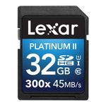 Lexar Platinum II 300x SDHC Memory Card 32GB