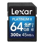 Lexar Platinum II 300x SDXC Memory Card 64GB