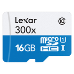 Lexar Micro SD - 16GB- 300X with SD Adapter