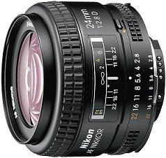 Nikon AF Nikkor 24mm f/2.8D Lens