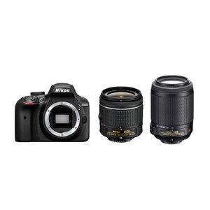Nikon D3400 DSLR + AF-P 18-55mm Non VR + AF-S DX 55-200mm VR Lens