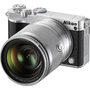 Nikon 1 J5 + 10-100mm VR Zoom Lens Silver/Black