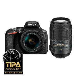 Nikon D5600 + AF-P DX 18-55mm VR + 55-300mm VR Lens