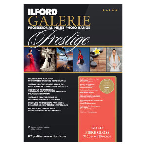 Ilford Galerie Prestige Gold Fibre Gloss Professional Inkjet Paper A4 25 sheets