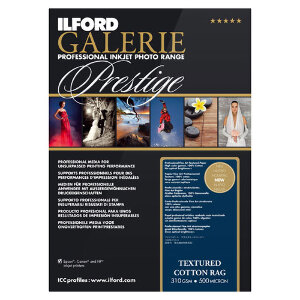 Ilford Galerie Textured Cotton Rag Professional Inkjet Paper A4 25 Sheets