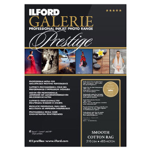 Ilford Galerie Smooth Cotton Rag Professional Inkjet Paper A3+ 25 Sheets