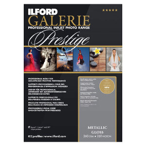 Ilford Galerie Metallic Gloss Professional Inkjet Paper A4 25 Sheets