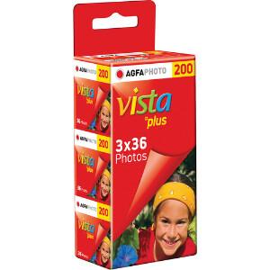 Agfa Vista Plus 200 ISO 35mm Film – 3 Pack