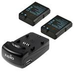 Jupio Rechargeable Nikon EN-EL14 Charger Kit