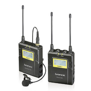 Saramonic UWMIC9 RX9+TX9 UHF Wireless Lavalier Microphone System – includes 1 x Receiver and 1 x Transmitter