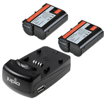 Jupio Rechargeable Nikon EN-EL15 Charger Kit