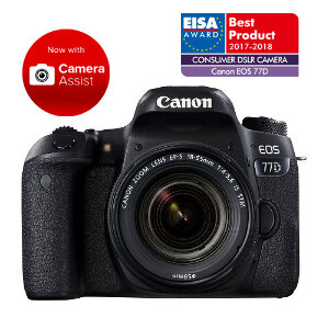 Canon EOS 77D DSLR + 18-55mm f/4-5.6 IS STM Lens
