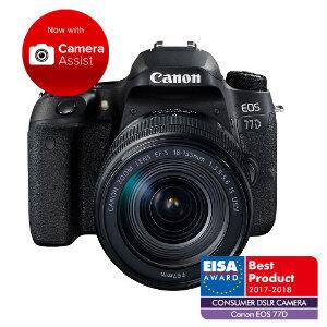 Canon EOS 77D DSLR + 18-135mm f/3.5-5.6 IS USM Lens
