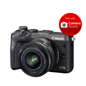 Canon EOS M6 (Black) + 15-45mm 3.5-5.6 IS STM Lens