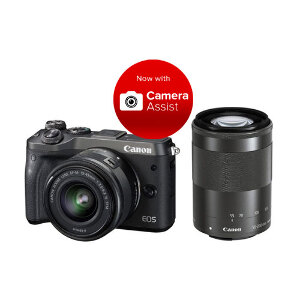 Canon EOS M6 + 15-45mm + 55-200mm Twin Kit