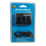 Haldex Triple Battery Charger for GoPro HERO5/6