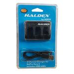 Haldex Triple Battery Charger for GoPro HERO5
