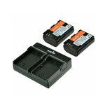Jupio Canon LP-E6 Dual Charger Kit