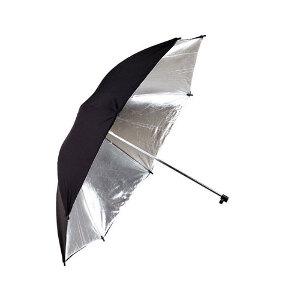 Phottix Reflective Studio Umbrella – Black and Silver 101cm