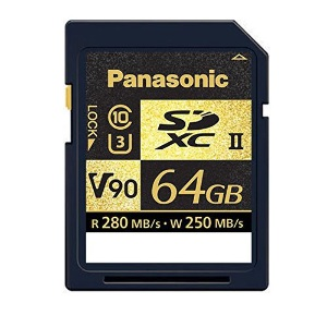 Panasonic 64GB SDXC (V90) Memory Card