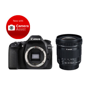 Canon EOS 80D DSLR + 10-18mm F/4.5-5.6 IS STM Lens