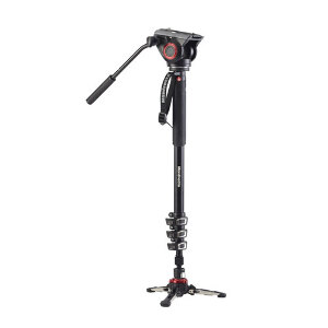 Manfrotto XPRO 4-Section Aluminium Monopod with Fluid Head & FLUIDTECH Base