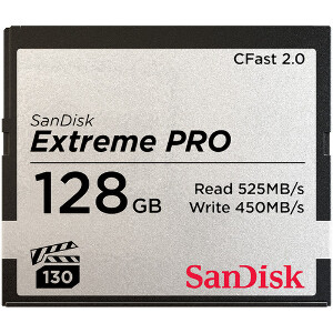 Sandisk Extreme Pro CFast 2.0 Card - 128GB 525MB/s