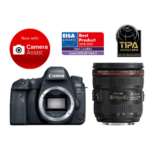 Canon EOS 6D Mark II DSLR + 24-70mm f/4L IS Lens