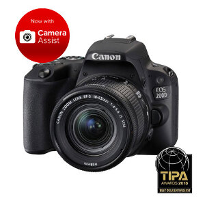 Canon EOS 200D DSLR + 18-55mm f/4-5.6 IS STM Lens