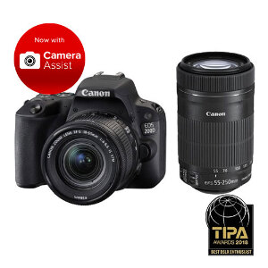 Canon EOS 200D DSLR + 18-55mm F/4-5.6 IS STM + 55-250mm F/4-5.6 IS STM