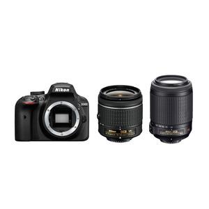 Nikon D3400 DSLR + 18-55mm VR + 55-200mm VR Lens