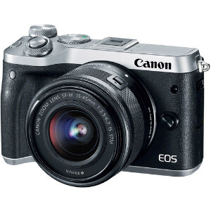 Canon EOS M6 (Silver) + 15-45mm 3.5-5.6 IS STM Lens