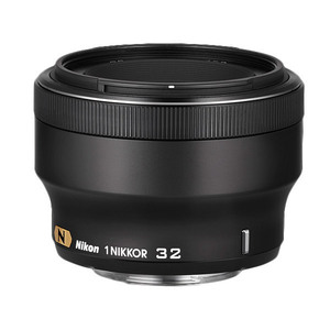Nikon 1 Nikkor AF 32mm f1.2 Lens - Black Colour