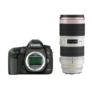 Canon EOS 5D Mark III DSLR + 70-200mm F/2.8L IS II Lens