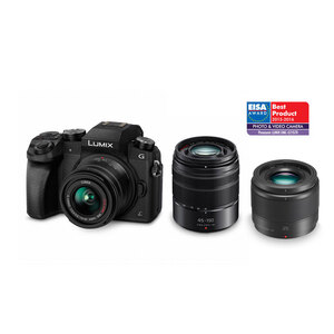 Panasonic Lumix G7 + 14-42mm + 45-150mm + 25mm Triple Lens Kit