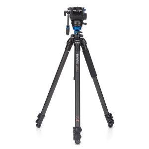 Benro S4 Single Leg Carbon Fibre Video Tripod Kit – C2573FS4