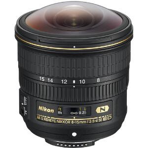 Nikon AF-S Nikkor 8-15mm f/3.5-4.5E ED Fisheye Lens No-Packaging
