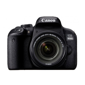 Canon EOS-800D DSLR Camera + EF-S 18-55mm f/4-5.6 IS STM Lens