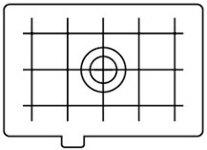 Canon Focus screen matte with grid #EC-D