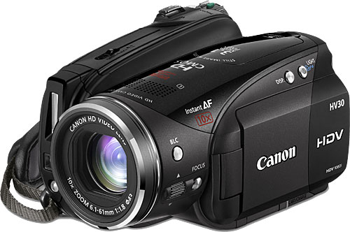 canon vixia hv30 high definition digital video camera digital camera warehouse. Black Bedroom Furniture Sets. Home Design Ideas