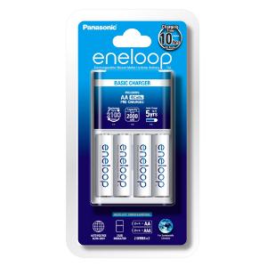Panasonic Eneloop 4 Cell Standard Charger + 4 x Eneloop AA Batteries