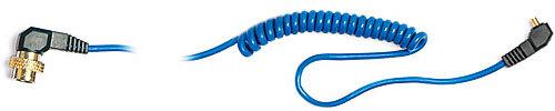 Elinchrom 5m Heavy Duty Spiral Sync Cable PC to EL Amphenol-#11074