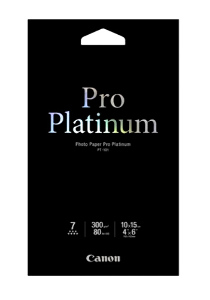 Canon Photo Paper Pro Platinum 4x6 20pk #PT-1014X6-20